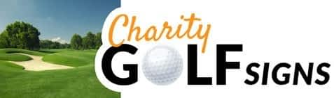 Charity Golf Tournament Tee Sign